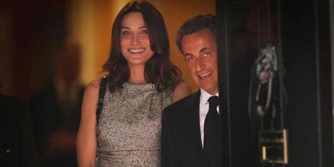 ساركوزي وكارلا بلقطة أرشيفية