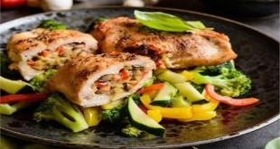 «رول دجاج بالخضار»